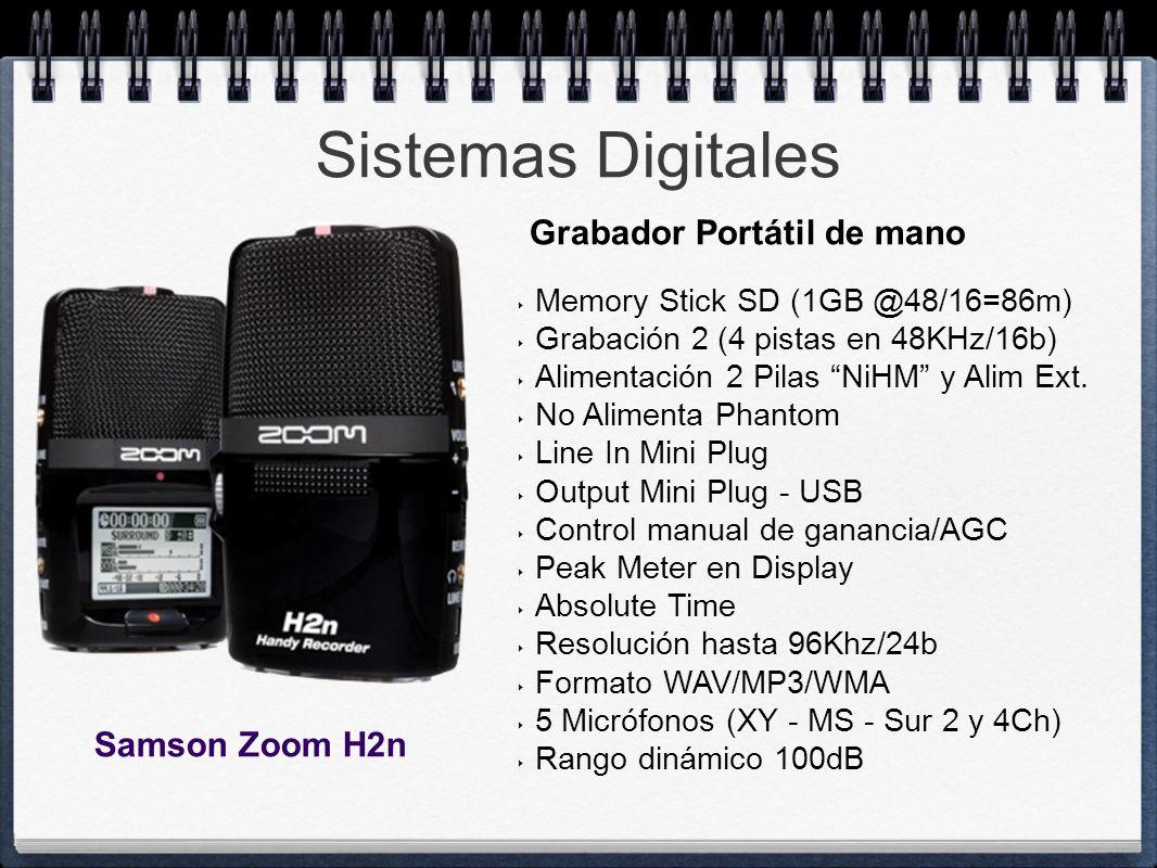 Sistemas Digitales Grabador Portátil de mano Samson Zoom H2n