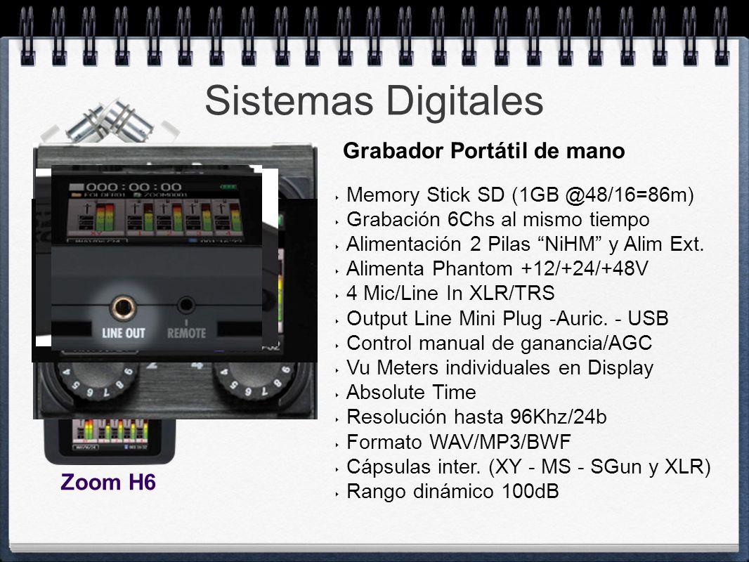 Sistemas Digitales Grabador Portátil de mano Zoom H6