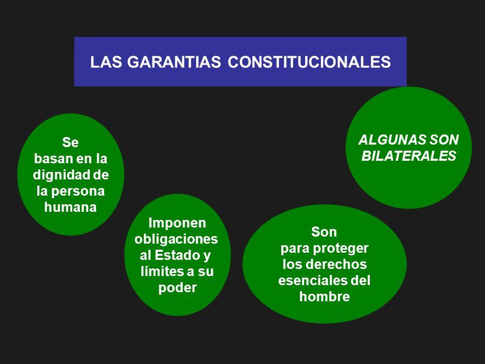 LAS GARANTIAS CONSTITUCIONALES para proteger los derechos