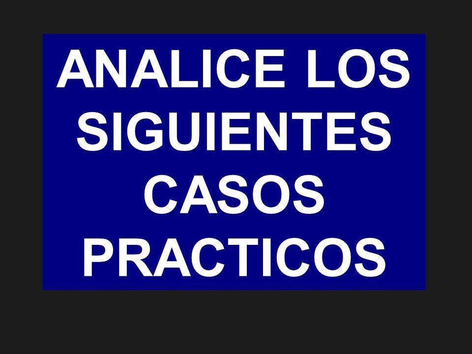 ANALICE LOS SIGUIENTES CASOS PRACTICOS