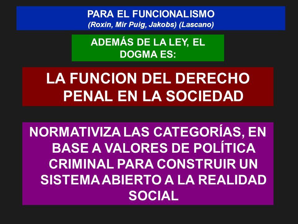 LA FUNCION DEL DERECHO PENAL EN LA SOCIEDAD