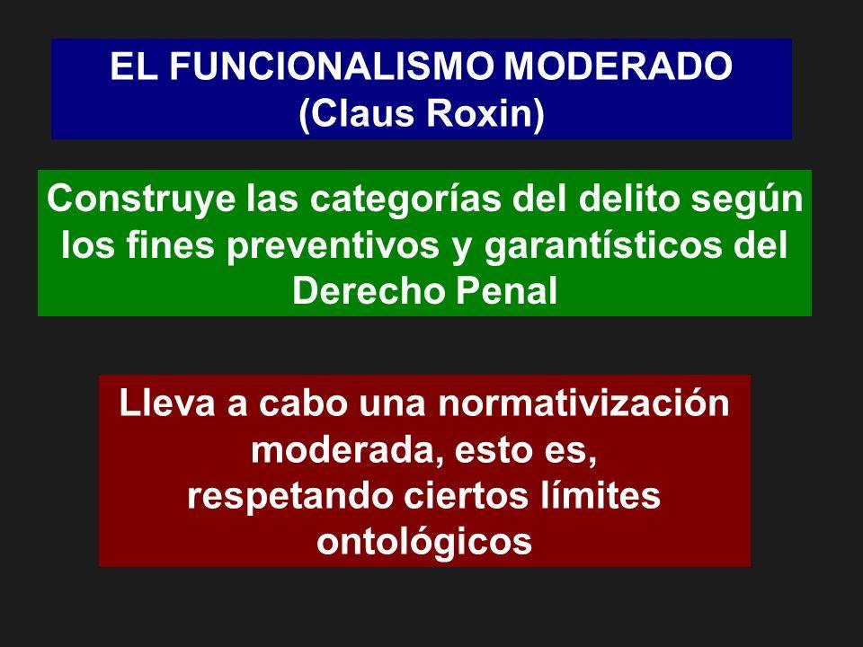EL FUNCIONALISMO MODERADO (Claus Roxin)