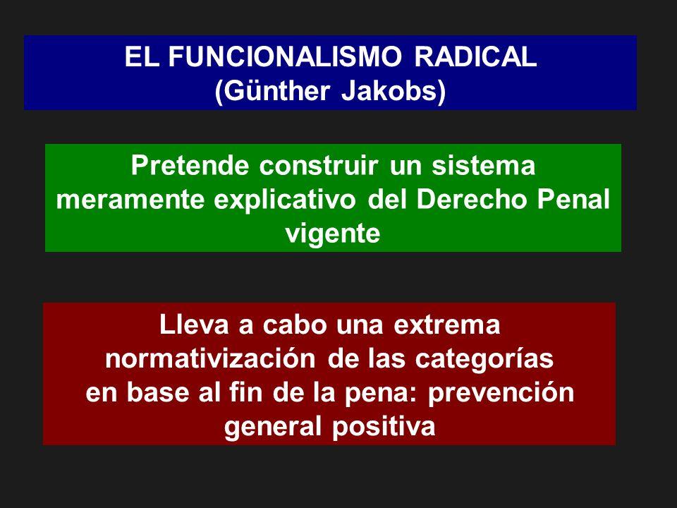EL FUNCIONALISMO RADICAL (Günther Jakobs)