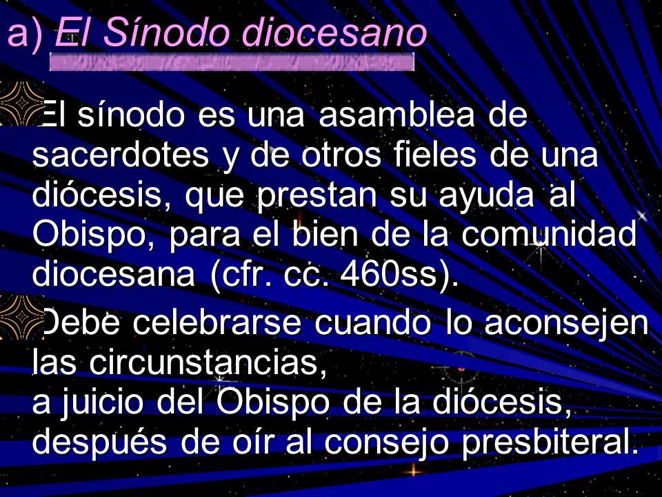 a) El Sínodo diocesano