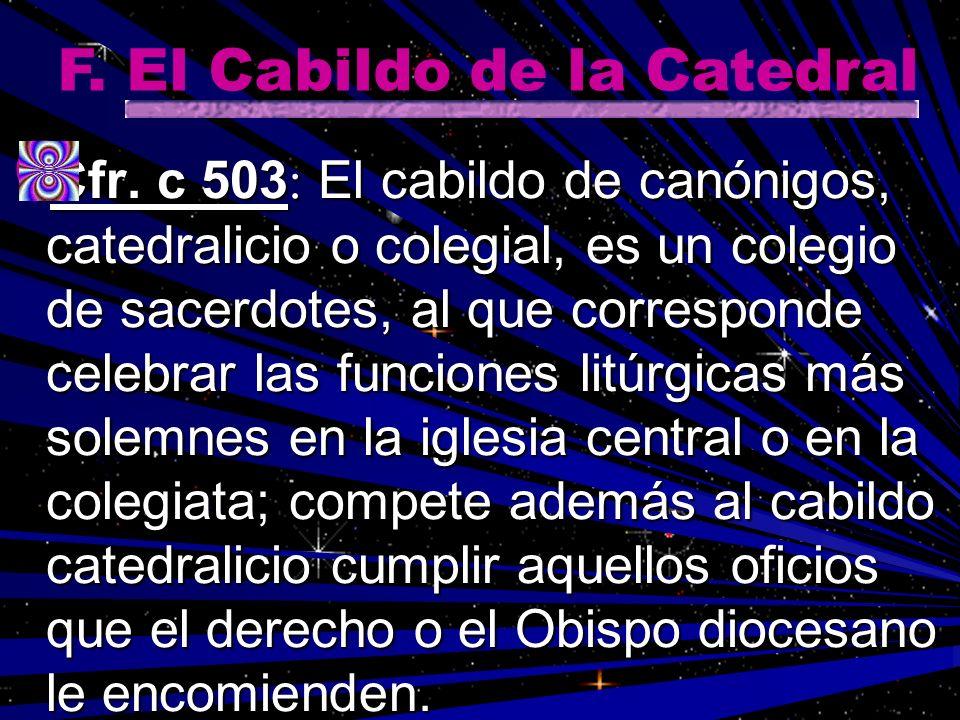 F. El Cabildo de la Catedral