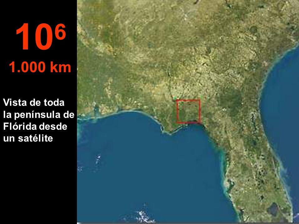 106 1.000 km Vista de toda la península de Flórida desde un satélite