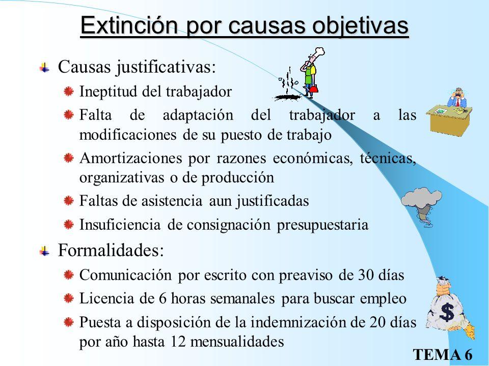 Extinción por causas objetivas
