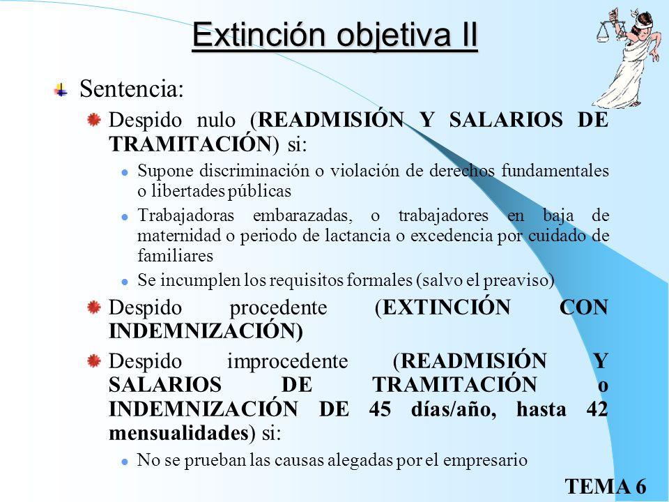 Extinción objetiva II Sentencia: