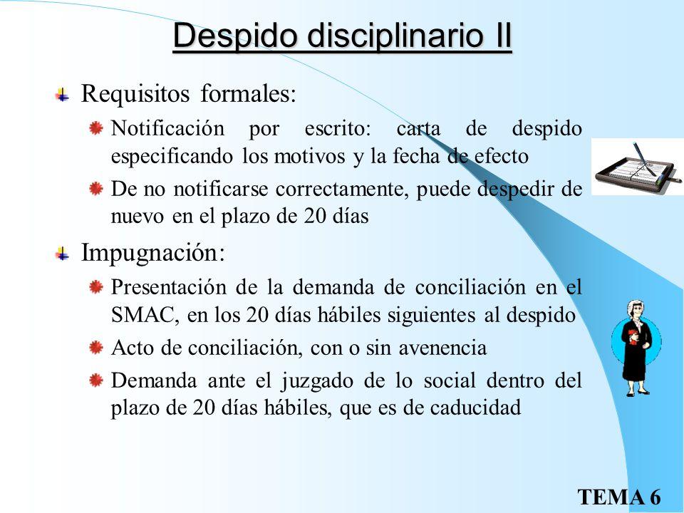 Despido disciplinario II
