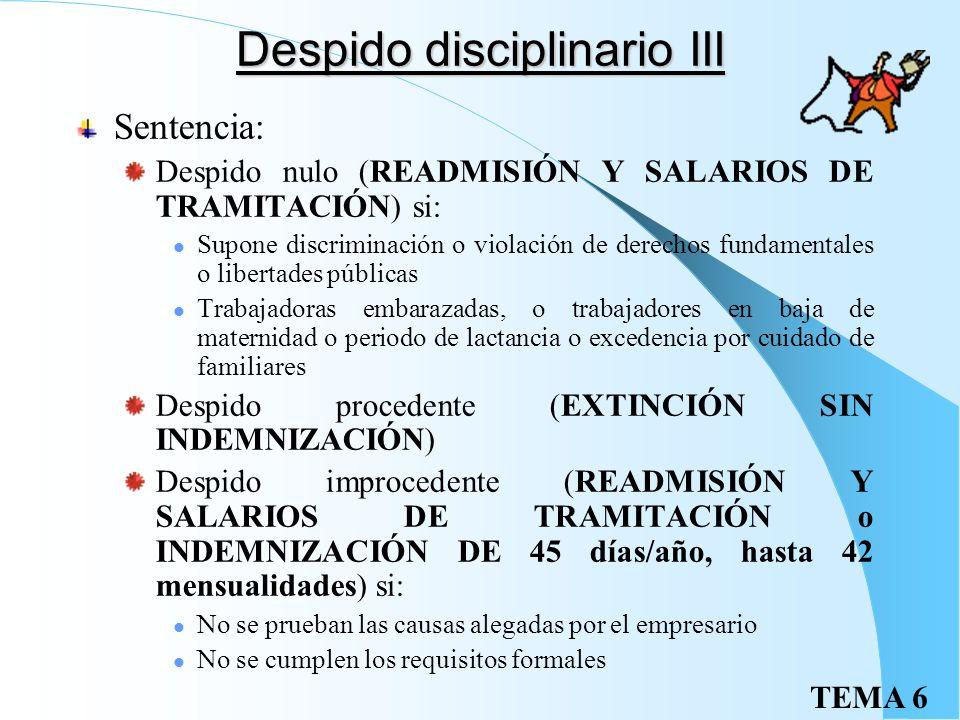 Despido disciplinario III