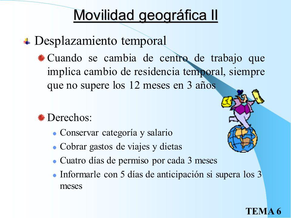 Movilidad geográfica II