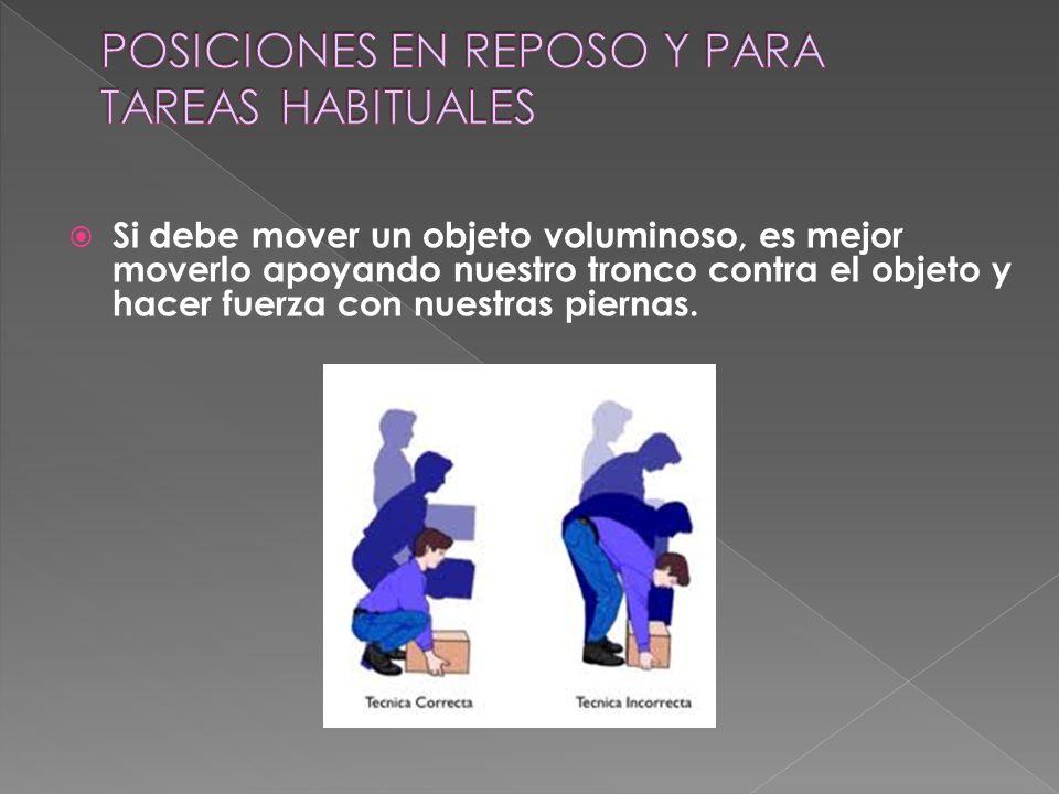 POSICIONES EN REPOSO Y PARA TAREAS HABITUALES