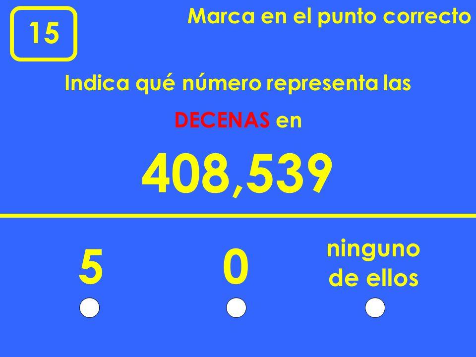 Indica qué número representa las