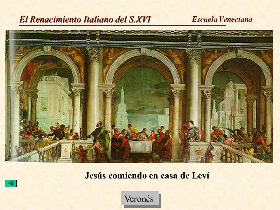 Jesús comiendo en casa de Leví