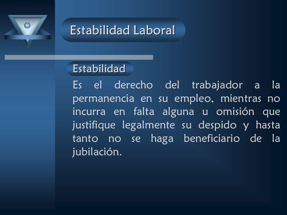 Estabilidad Laboral Estabilidad