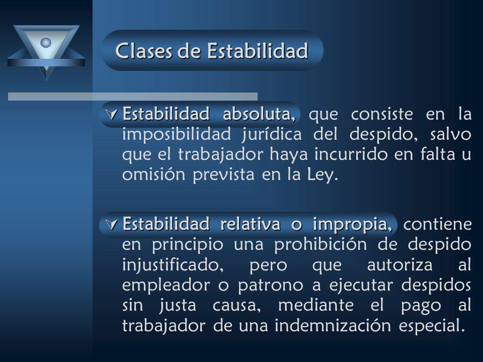 Clases de Estabilidad