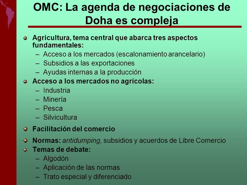 OMC: La agenda de negociaciones de Doha es compleja
