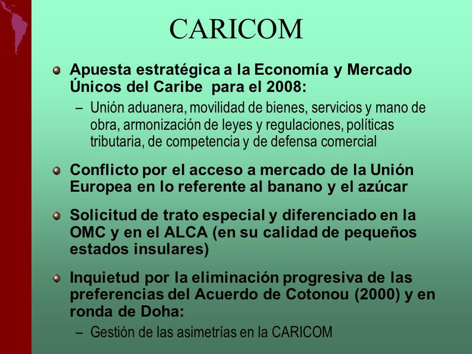CARICOM Apuesta estratégica a la Economía y Mercado Únicos del Caribe para el 2008:
