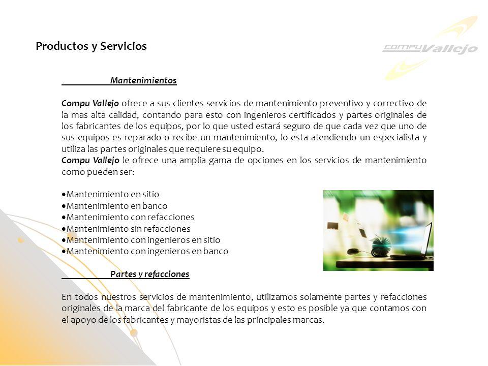 Productos y Servicios Mantenimientos