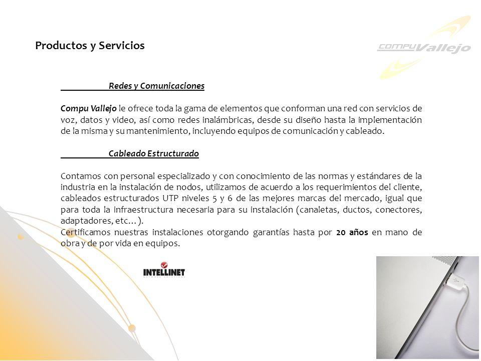 Productos y Servicios Redes y Comunicaciones