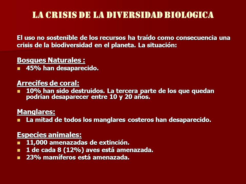 LA CRISIS DE LA DIVERSIDAD BIOLOGICA