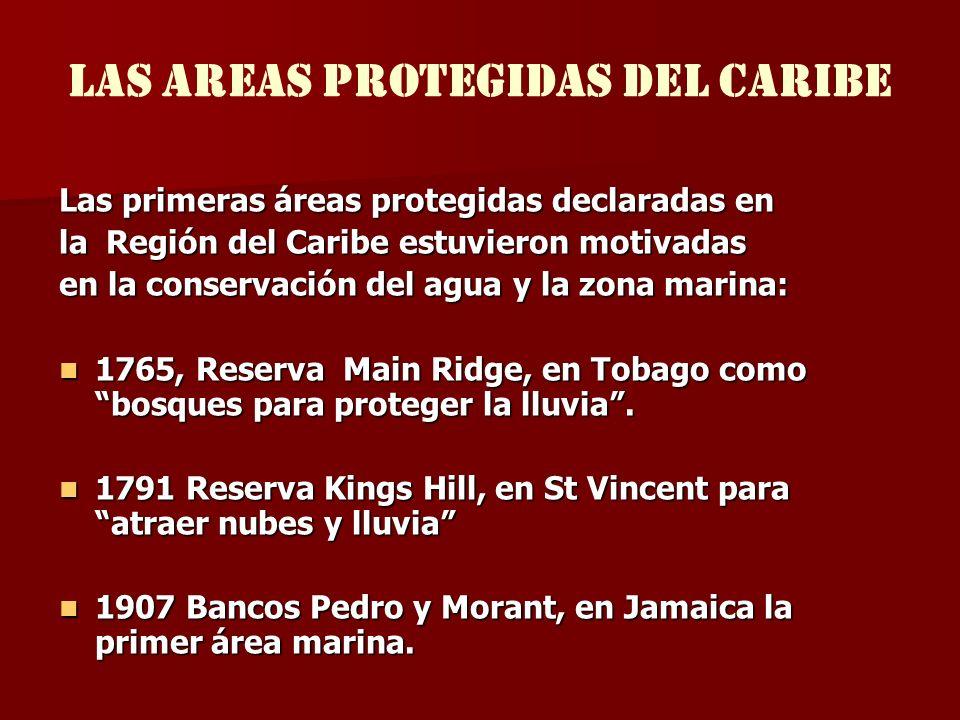 LAS Areas protegidas del caribe