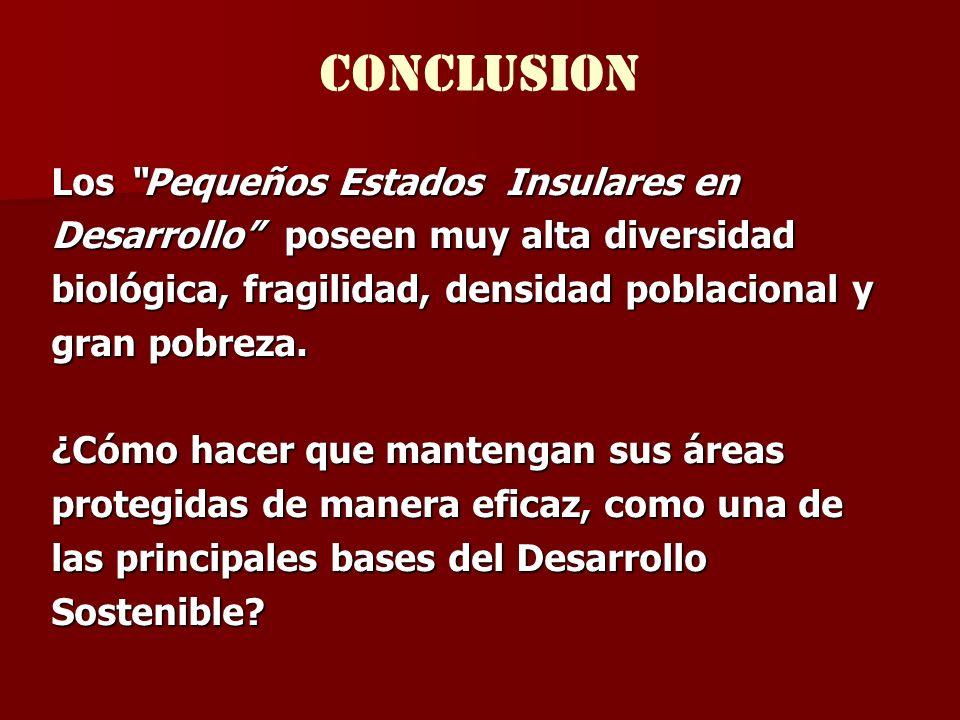 CONCLUSION Los Pequeños Estados Insulares en