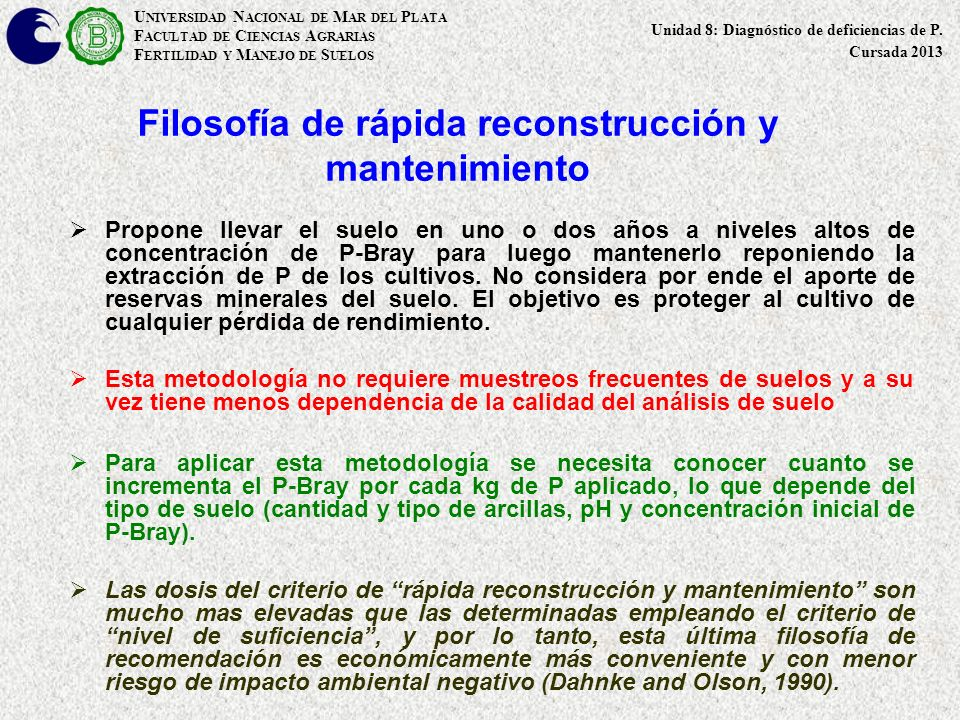 Filosofía de rápida reconstrucción y mantenimiento