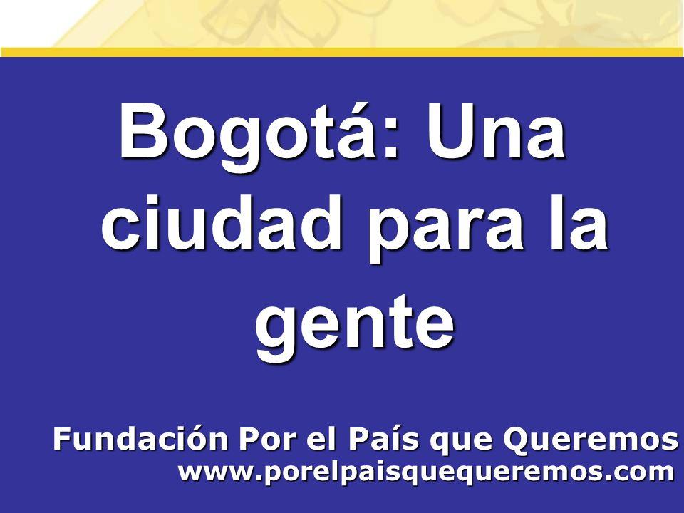 Bogotá: Una ciudad para la gente Fundación Por el País que Queremos
