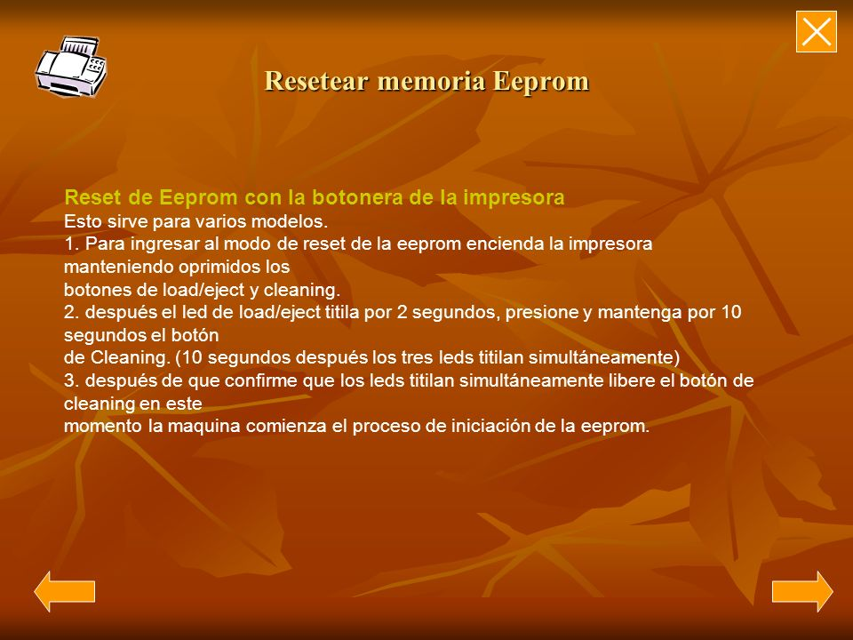Resetear memoria Eeprom