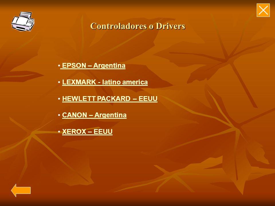 Controladores o Drivers