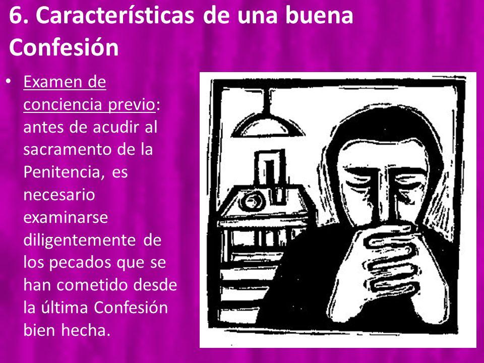 6. Características de una buena Confesión