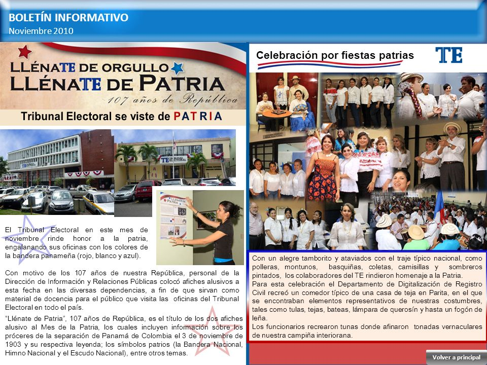 Tribunal Electoral se viste de PATRIA