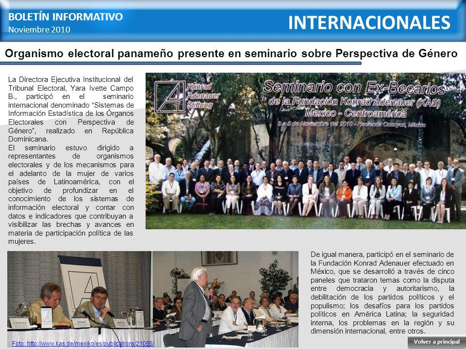 INTERNACIONALES BOLETÍN INFORMATIVO