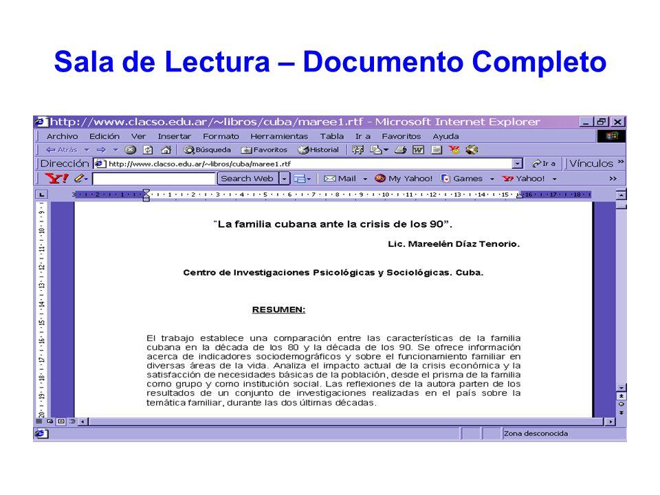 Sala de Lectura – Documento Completo