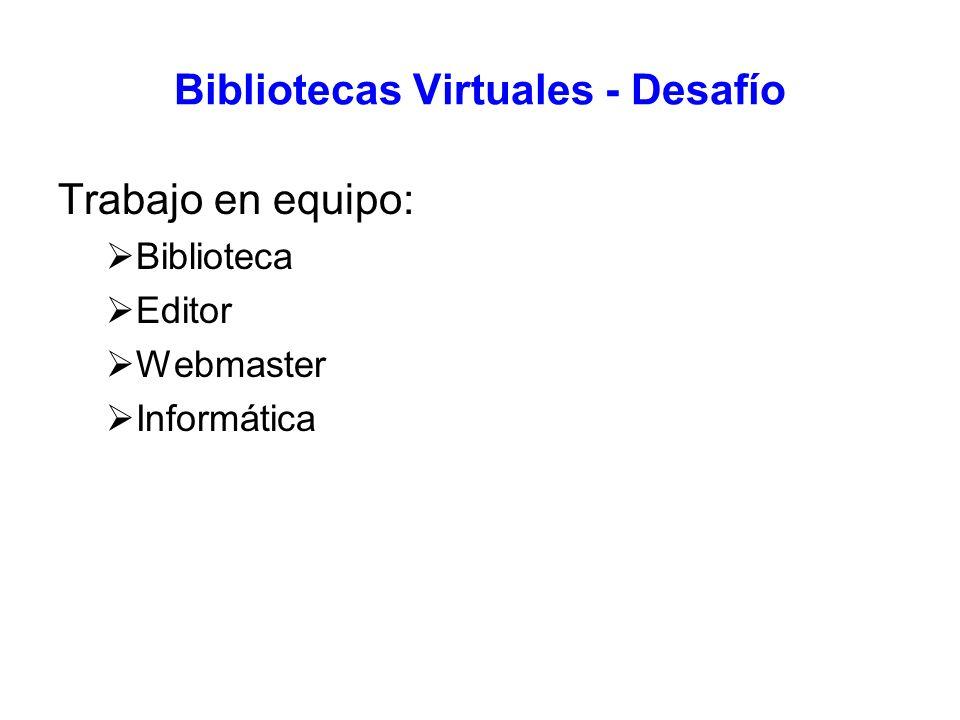 Bibliotecas Virtuales - Desafío
