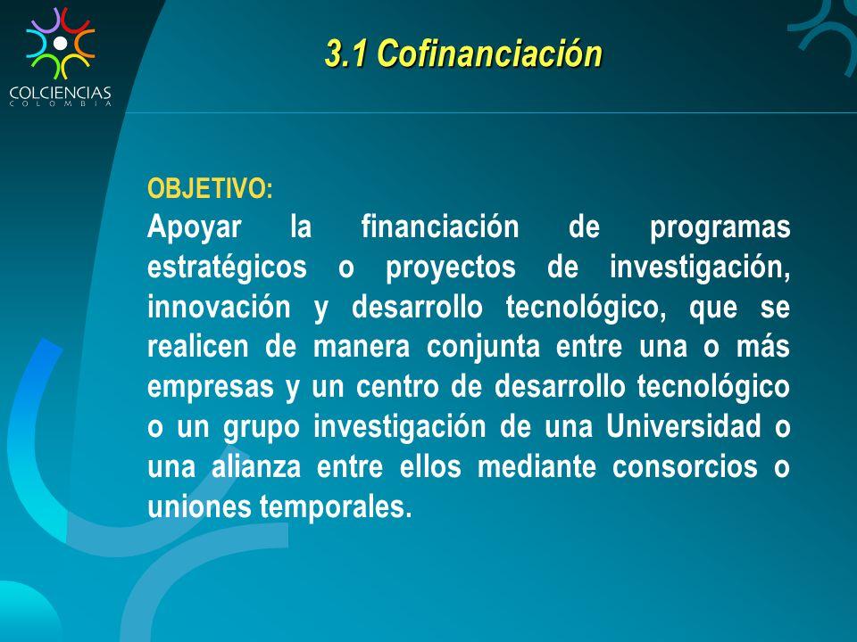 3.1 Cofinanciación OBJETIVO: