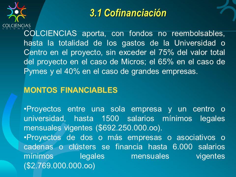 3.1 Cofinanciación