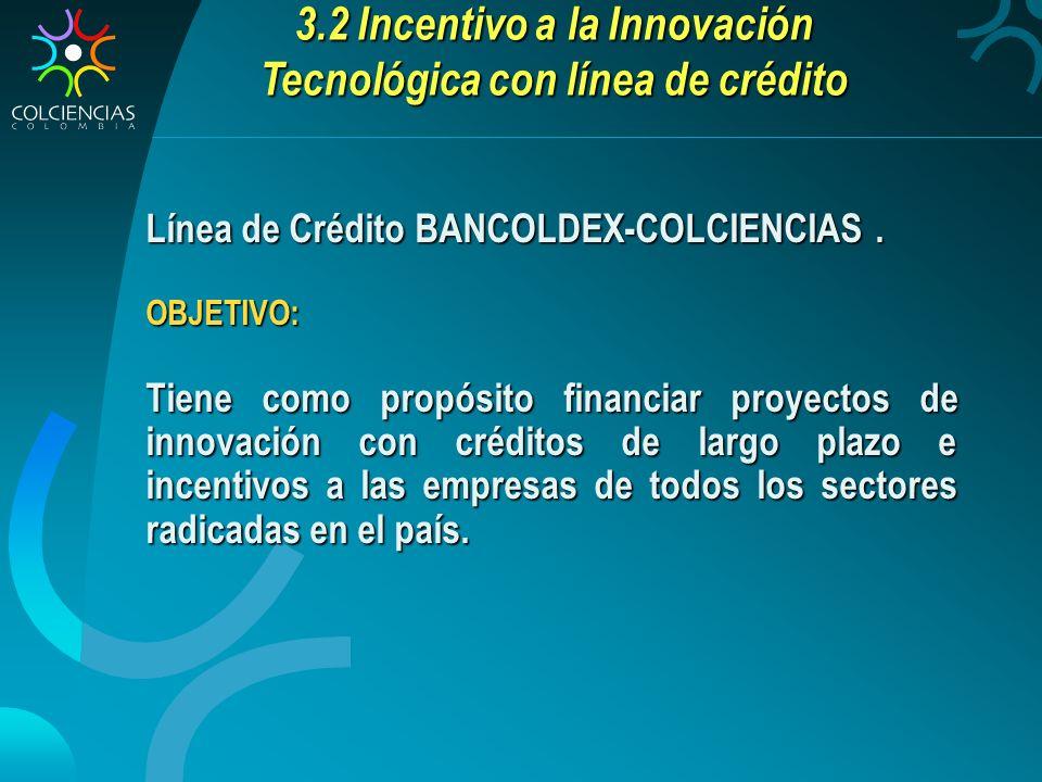 3.2 Incentivo a la Innovación Tecnológica con línea de crédito