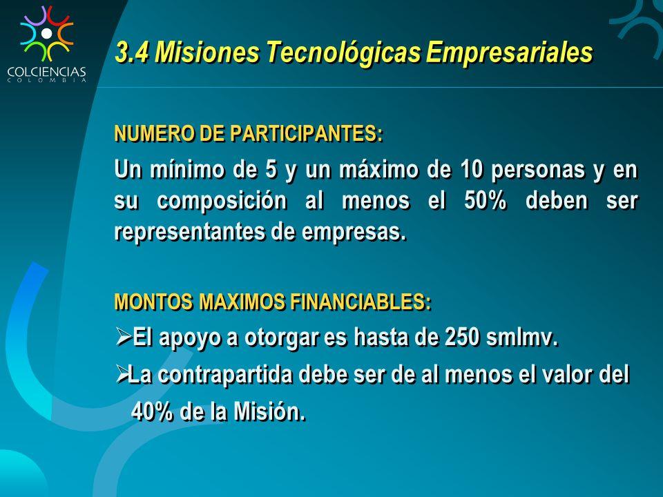 3.4 Misiones Tecnológicas Empresariales