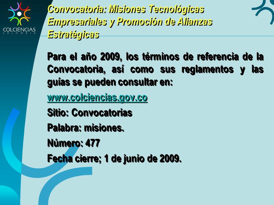 Convocatoria: Misiones Tecnológicas Empresariales y Promoción de Alianzas Estratégicas