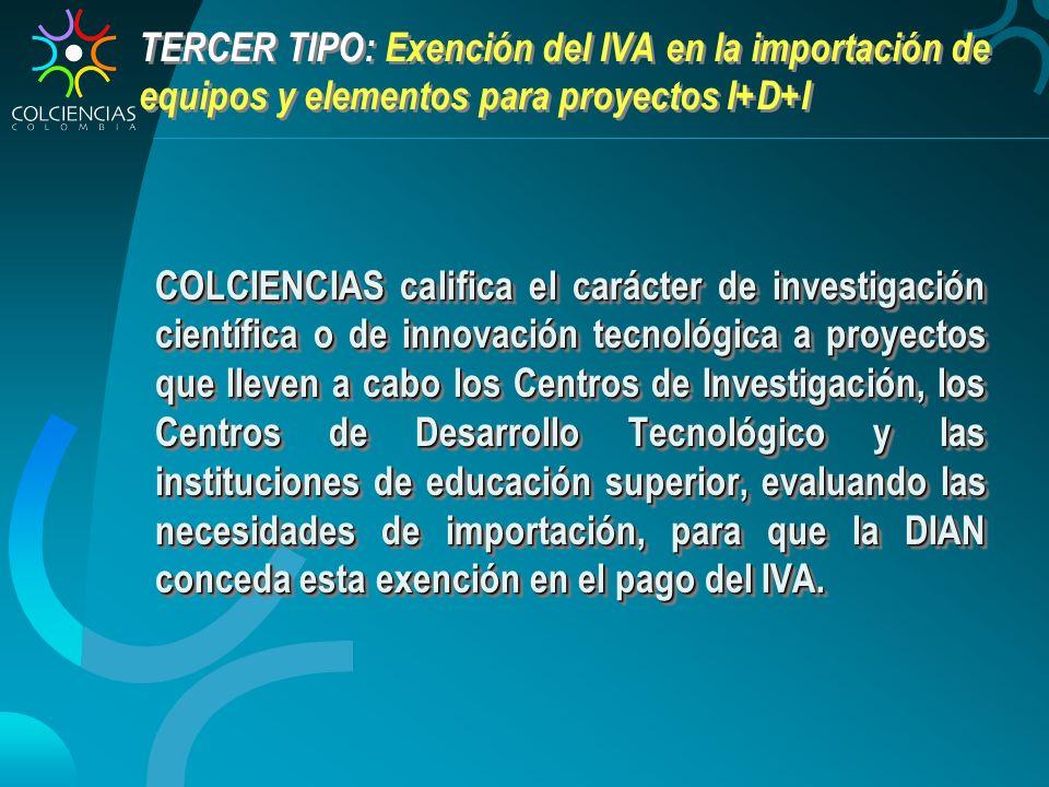 TERCER TIPO: Exención del IVA en la importación de equipos y elementos para proyectos I+D+I