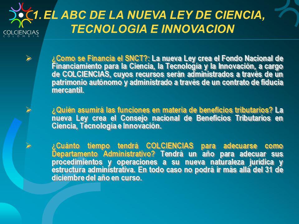 EL ABC DE LA NUEVA LEY DE CIENCIA, TECNOLOGIA E INNOVACION
