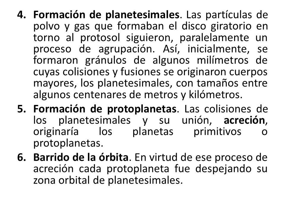 Formación de planetesimales