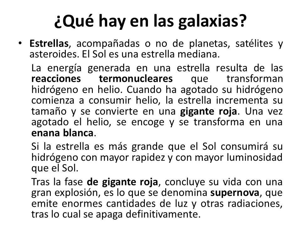 ¿Qué hay en las galaxias