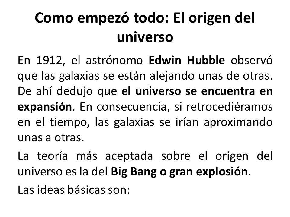 Como empezó todo: El origen del universo