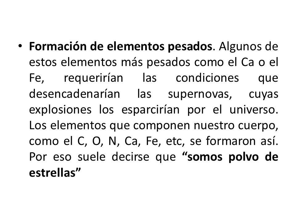 Formación de elementos pesados