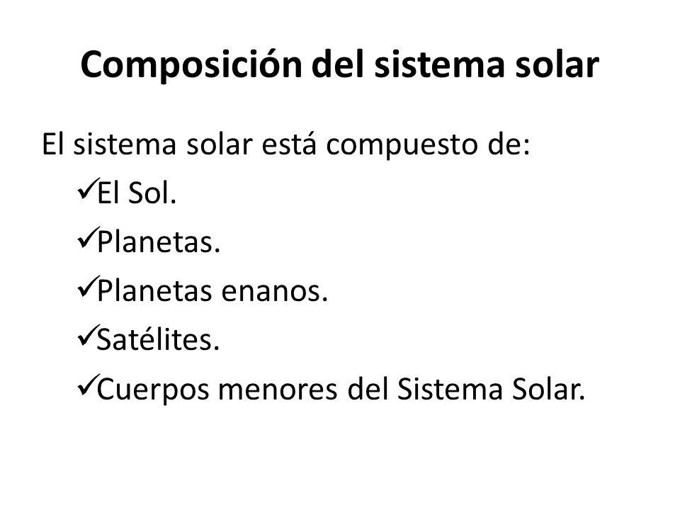 Composición del sistema solar