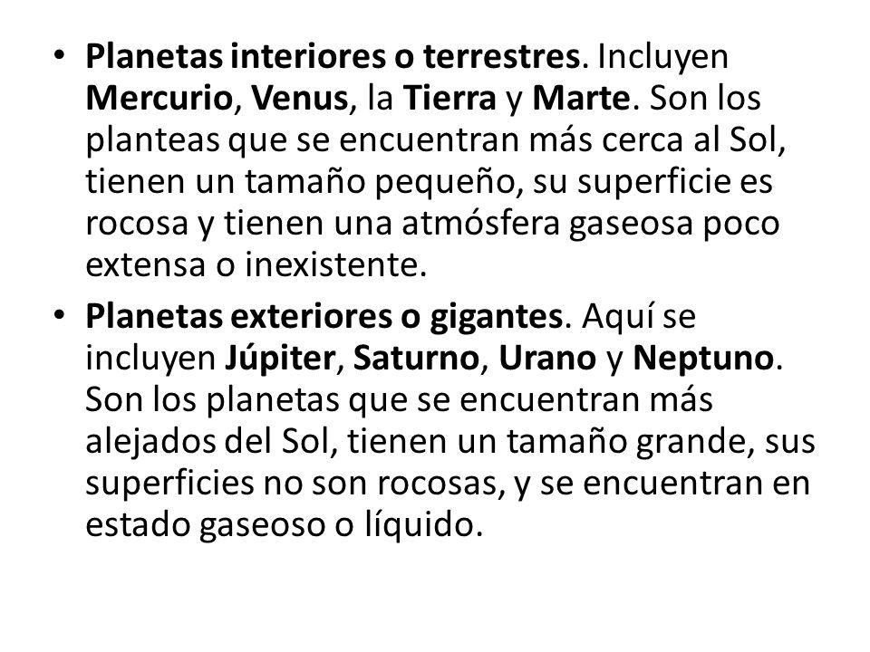 Planetas interiores o terrestres