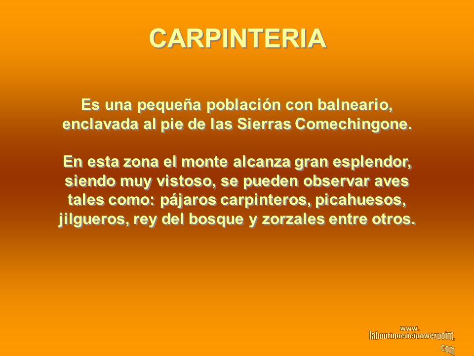 CARPINTERIA Es una pequeña población con balneario,